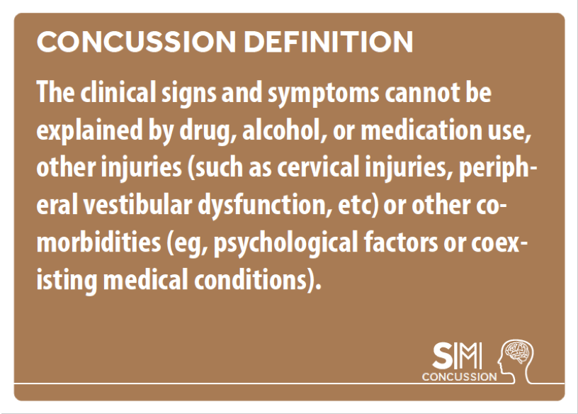 Concussion is a diagnosis of exclusion