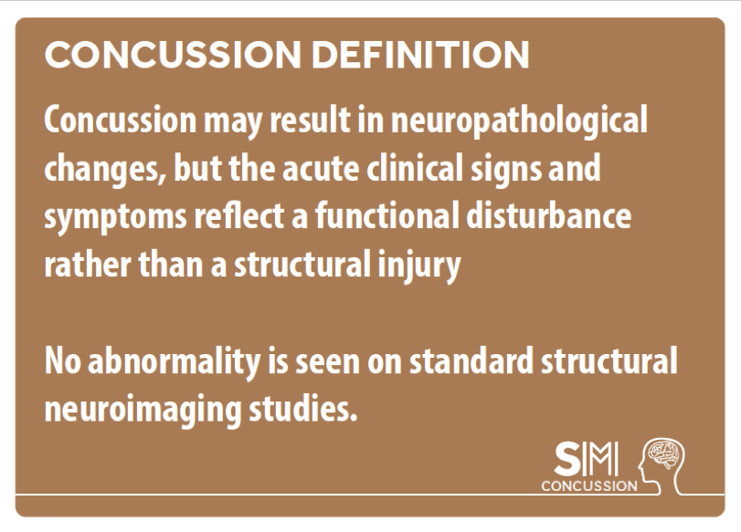Concussion definition. Does concussion show on a MRI Scan?